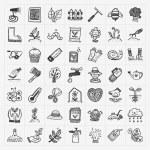 Doodle gardening icon — Stock Vector #43079011