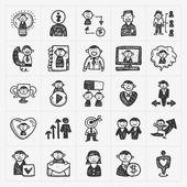 Doodle mensen pictogrammen — Stockvector