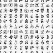 Patrón de gente transparente doodle — Vector de stock