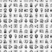 Naadloze doodle mensen patroon — Stockvector