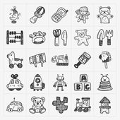 Doodle toy icons — Stock Vector