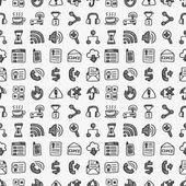 シームレスな落書き web パターン — ストックベクタ