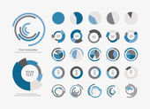 Pie chart icons — Stock Vector