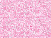 Seamless doodle baby pattern — Stock Vector