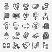 Doodle communication icons — Stock Vector