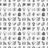 Doodle communication pattern — Stockvector