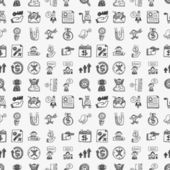 Doodle communication pattern — Stock vektor