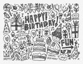 Fondo de fiesta de cumpleaños — Vector de stock