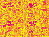 Birthday party pattern background — ストックベクタ
