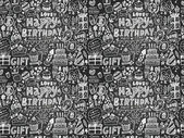 Birthday party pattern — ストックベクタ