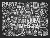 Birthday party background — Stock Vector