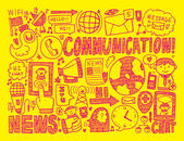 Communication background — 图库矢量图片