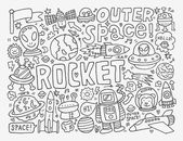Doodle space element — Stock Vector