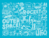 Elemento de espaço doodle — Vetorial Stock