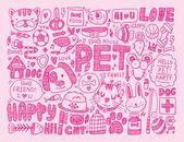 Doodle pet background — Stock Vector