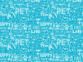 Seamless doodle pet pattern — Stock Vector