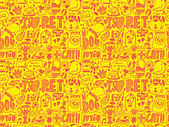 Doodle seamless pattern pet — Vetorial Stock