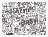Baby background — Stock Vector