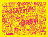 Doodle baby background — Stock Vector