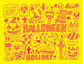 Halloween holiday background — Stock Vector