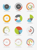 Infographic pie charts — Stock Vector