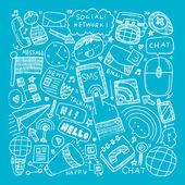 Communication background — Stock vektor