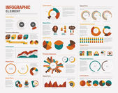 Infographics elements — Stok Vektör