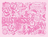 Doodle business background — Vecteur