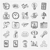 Doodle business icon — Vettoriale Stock