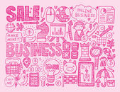 Doodle business background — Vetorial Stock