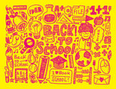 Doodle back to school background — Stock Vector