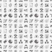 嘟嘟互联网 web 无缝模式 — 图库矢量图片