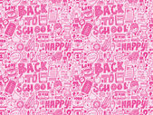 Back to school seamless pattern — Vector de stock