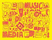 Multimedia background — Wektor stockowy