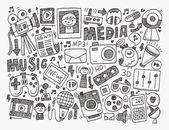 Plano de mídia — Vetor de Stock