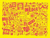 Media background — Stock Vector