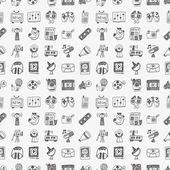 Doodle media pattern — Stock Vector