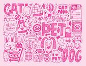 Pet background — Stock Vector