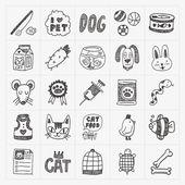 Pet icons set — Stock Vector