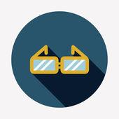 Glasses flat icon — 图库矢量图片