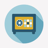 Safe box flat icon — Stock Vector