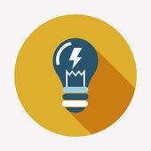 Light bulb flat icon — Stock Vector