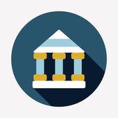 Bank flat icon — Stock Vector