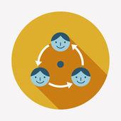 Business connection flat icon — Vector de stock