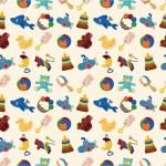 Cartoon kid toy seamless pattern — Stock Vector #7863010