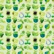 Seamless eco icon pattern — Stock Vector #7863082