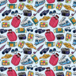 Travel icons seamless pattern — Stock Vector #9162165