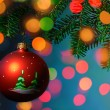 Stockfoto: Christmas Tree Bauble on luminous background