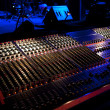 Mixing console besides a concert stage — Stock Photo