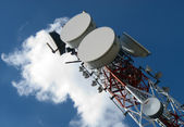 Telecommunications antennas — Stock Photo